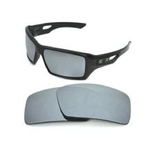 NEW POLARIZED CUSTOM SILVER ICE LENS FOR OAKLEY EYE PATCH 2 SUNGLASSES